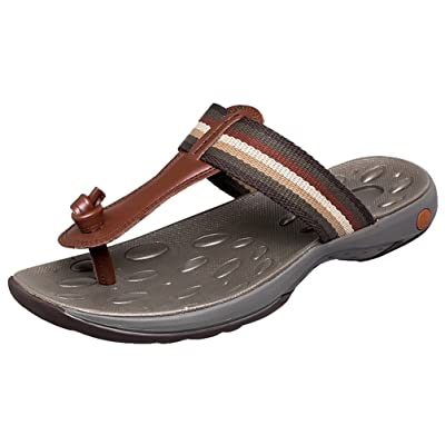 Abby 1605 Mens Beach Flip Flops Casual Leisure Comfy Cozy Dynamic Breathable Leather Sandals