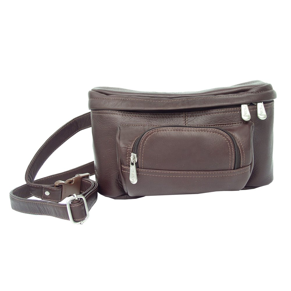 Piel Leather Carry-All Waist Bag, Saddle, One Size