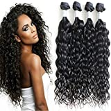 7a Brazilian Natural Wave Virgin Hair Bundles Brazilian Water Wave Hair Weft Human Hair Extensions (18 20 22 24)
