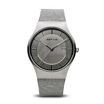 BERING Reloj Analógico para Hombre de Cuarzo con Correa en Acero Inoxidable 11938-000: Amazon.es: Relojes
