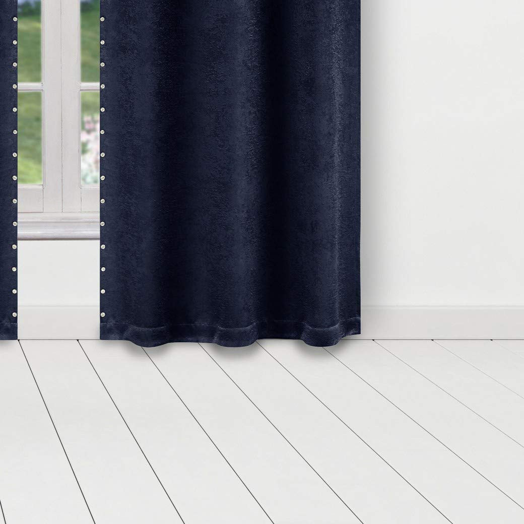 Kelvin Marcy Blackout Window Curtain 37 x 84 Inches Mouse