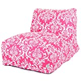 Majestic Home Goods Hot Pink and White French Quarter Bean Bag Chair Lounger