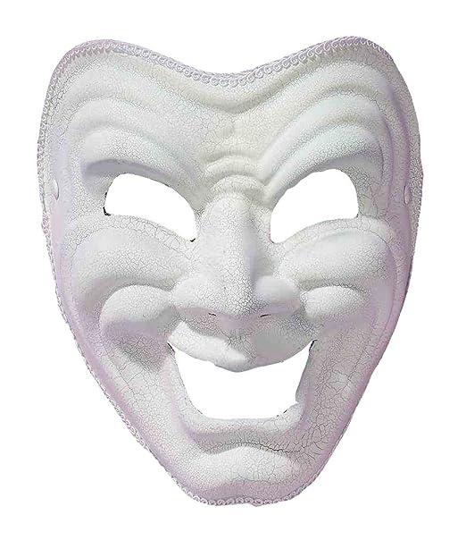 Amazon.com: Forum Comedia Máscara, talla única , Blanco ...