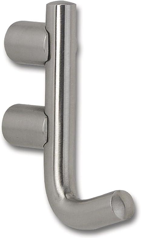 SIRO 1401//N1 Mantelhaken Cerros Breite 17 mm H/öhe 85 mm Edelstahl geb/ürstet