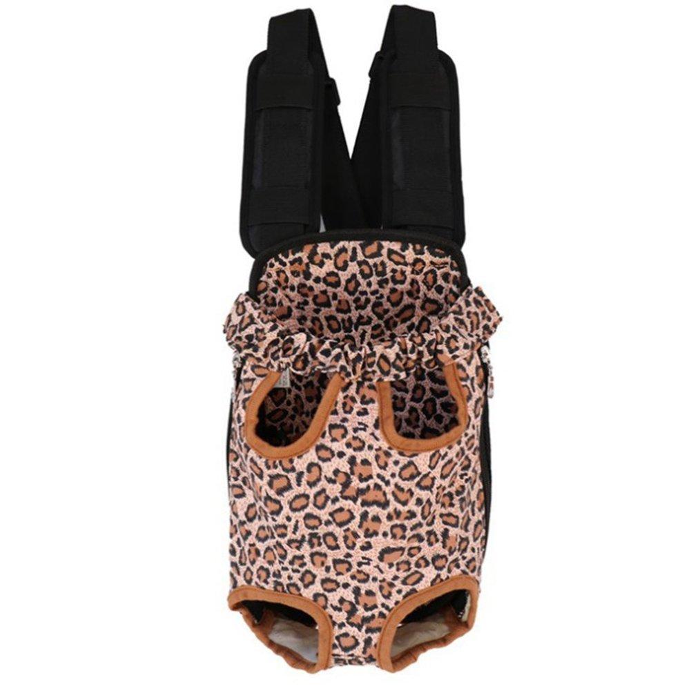 Brown Pet Backpack Carrier Pet Dog Cat Handbag Adjustable Outdoor Activities
