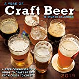A Year of Craft Beer - A Beer Connoisseur s Guide to Craft Brews from Coast to Coast 2019 Wall Calendars, 12 x 12, (CA-0416)