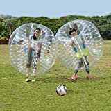 shaofu Inflatable Bumper Ball Dia 4/5 ft (1.2/1.5 m) Human Hamster Ball for Adults/Kids Eight Colors (US Stock) (Dia 5 ft/Clear)