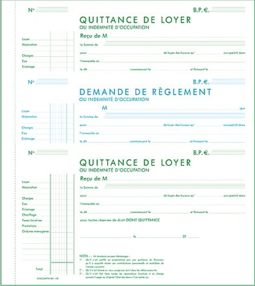 Exemple quittance de loyer exacompta document online - Assurance habitation location meublee ...