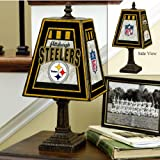 NFL Pittsburgh Steelers 14 Inch Art Glass Lamp
