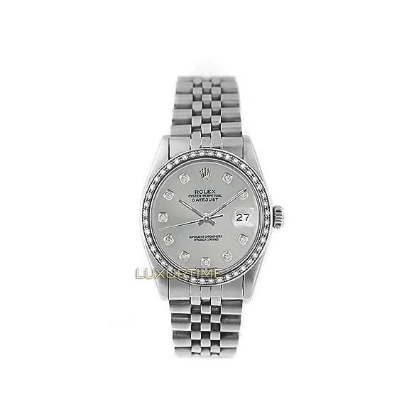 Rolex Datejust 16234 - Reloj automático, automático, autoviento, para hombre (certificado de