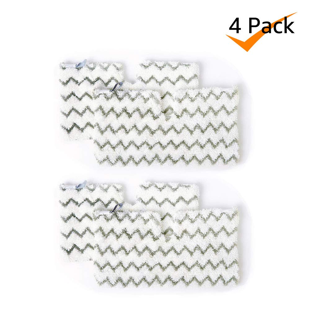 Bonus Life Multi-Material Steam Mop Pads for Shark S3501 S3550 S3601 S3801 S3901 SE450 12.5 x 7.5 inches, 4 Pack