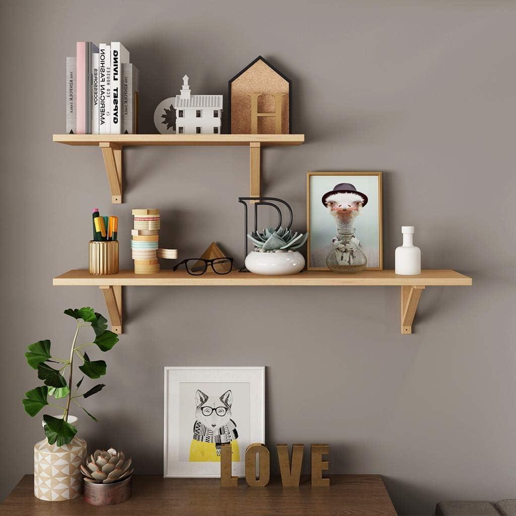 Rústica de madera flotante estante montado en la pared de la ...
