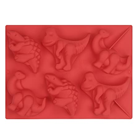 iiniim 6 Cavities Dinosaurios Molde de Silicona para Tartas ...