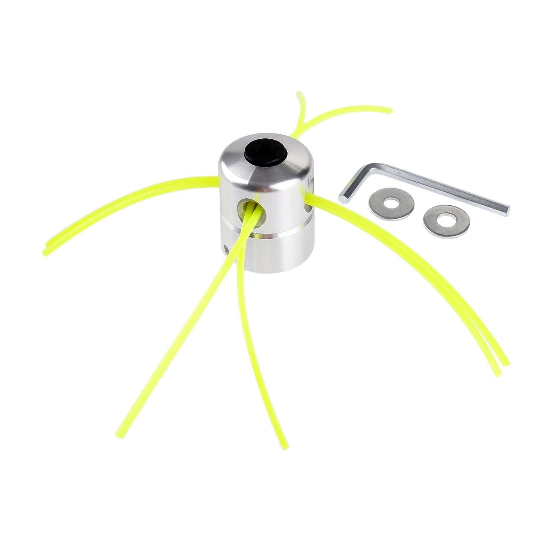Hicello Aluminio Desbrozadora Cabeza con 4 líneas Libre ...