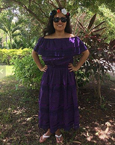 Vestido Campesino Mexicano Color Morado Talla 15 18 Años