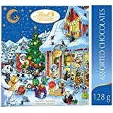 Lindt Christmas Advent Calendar Assorted Chocolates Gift Box, 128g