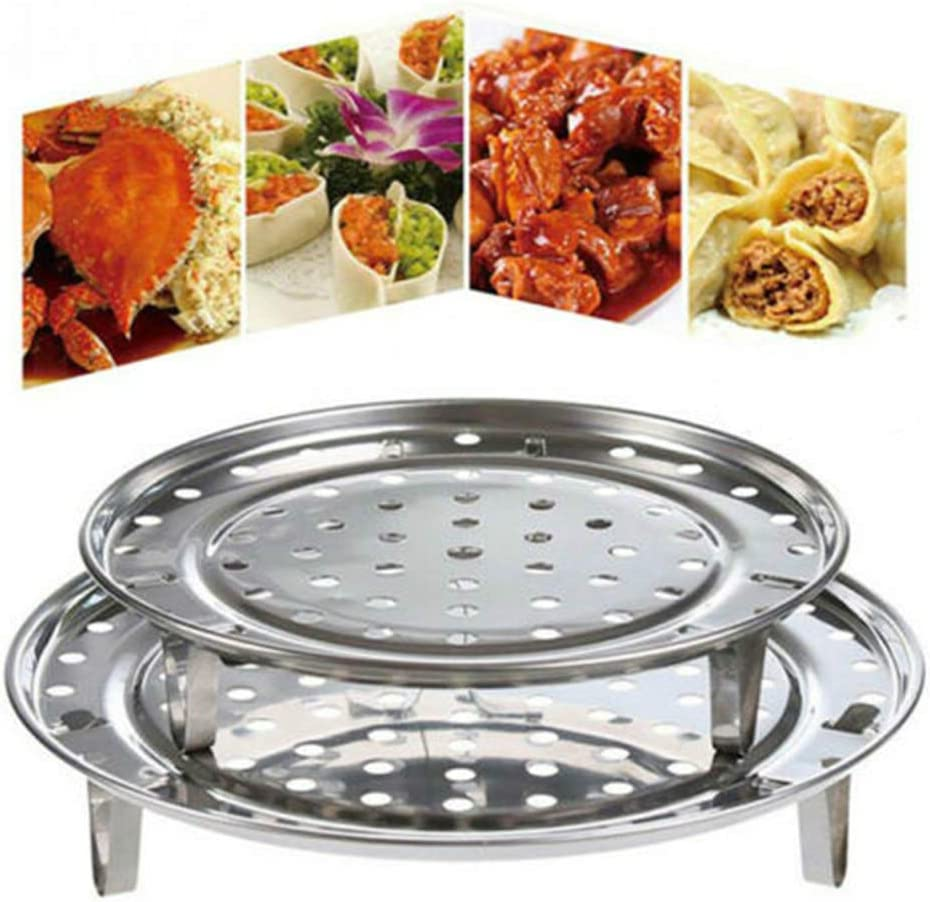 "2PCS Steame Rack 7.08"" 7.87"" Inch Diameter Steaming Rack Detachable Legs Canning Rack - for Pressure Cooker Canner Rack"