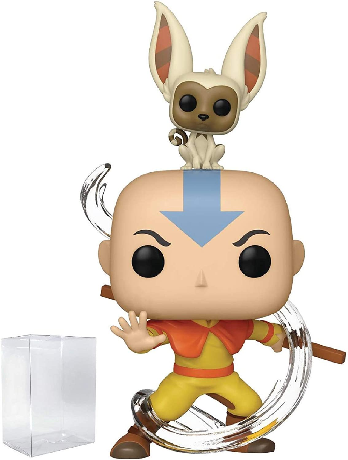 Funko Avatar: The Last Airbender - Aang with Momo Pop! Vinyl Figure (Includes Compatible Pop Box Protector Case)