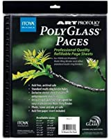 "Itoya Art Portfolio Polyglass Refill Pages (Set of 10) Size: 11"" x 14"""