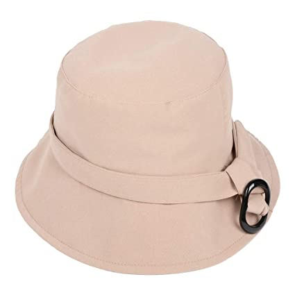 540283e13afef Amazon.com  CapsA Outdoor Fishing Caps for Women Men Solid Color Bucket  Bench Hat Summer Sunhat  Sports   Outdoors
