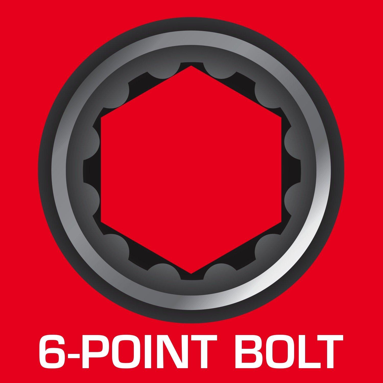 8-Piece Powerbuilt 641991 Metric Spline Socket Set