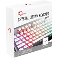 G.SKILL Crystal Crown Keycaps - Keycap Set with Transparent Layer for Mechanical Keyboards, Full 104 Key, Standard ANSI…