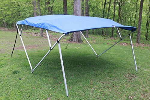 oyal Blue Square Tube Frame 4 Bow Pontoon/Deck Boat Bimini TOP 8' Long, 91-96