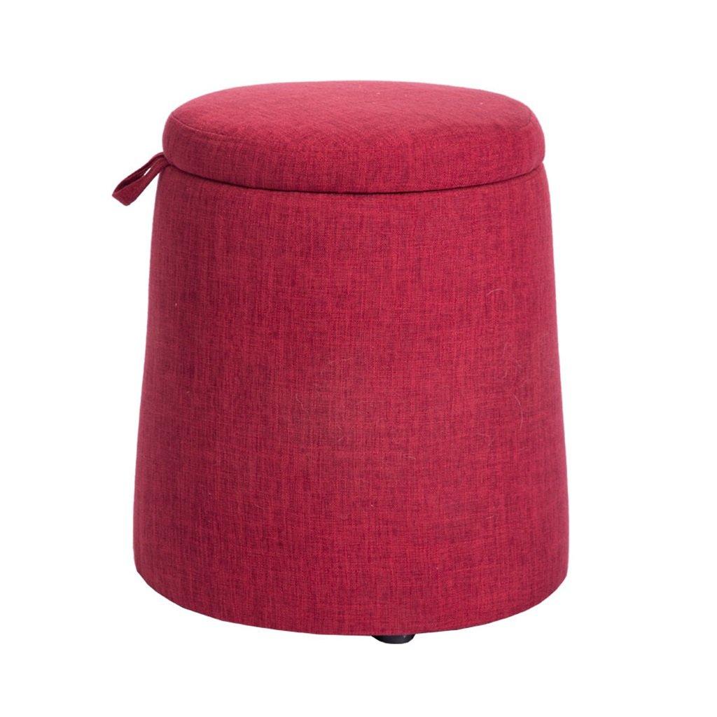 YYdy- Wood Change Shoes Sgabello con contenitore Imbottito poggiapiedi poggiapiedi Poggiapiedi Seggiolino per sedersi Piccolo Adatto per soggiorno Camera da letto ( Colore : A ) YYdy-Small wooden stool