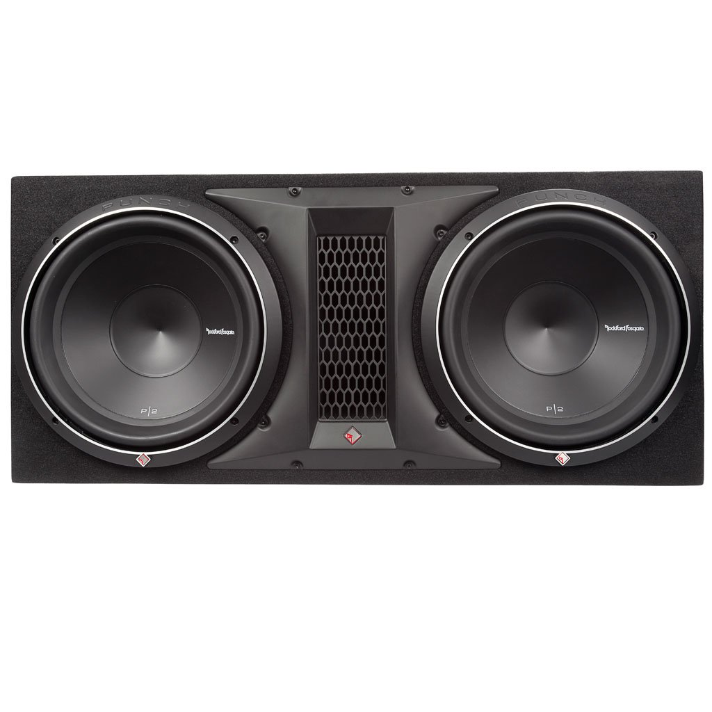 Rockford Fosgate Punch P2-2X12 P2 Dual 12'' Loaded Enclosure Ported Subwoofer