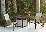 Cosco Outdoor Fire Pit Table, Brown Mixed Media