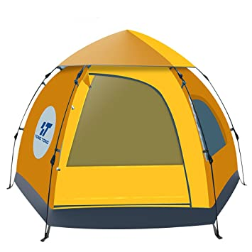 Yongtong Backpacking Tent Big Size 4-6 person Double Layer Tents Automatic Pop  sc 1 st  Amazon.com & Amazon.com : Yongtong Backpacking Tent Big Size 4-6 person Double ...