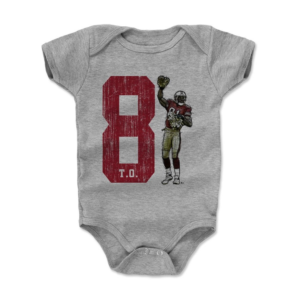 b300af8ed37 Amazon.com: 500 LEVEL Terrell Owens San Francisco Football Baby Clothes &  Onesie (3-24 Months) - Terrell Owens Pom: Sports & Outdoors