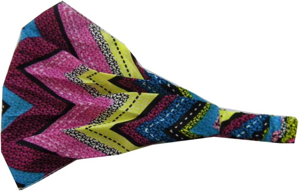 Soft Wide Colorful Chevron Pattern Boho Style Head wrap Yoga  Ladies Headband