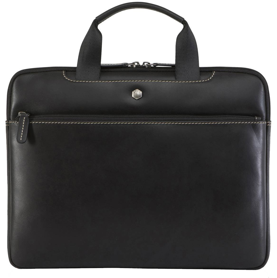 Jekyll and Hide Black Texas 13inch Leather PC Briefcase