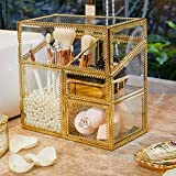 PuTwo Makeup Organizer Handmade Vintage Brass Edge Makeup Brush...