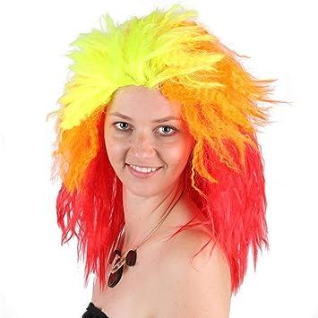 Desconocido Peluca Explosión de la Peluca de la Fiesta Cabeza rizada de Halloween Halloween Carnaval Celebración