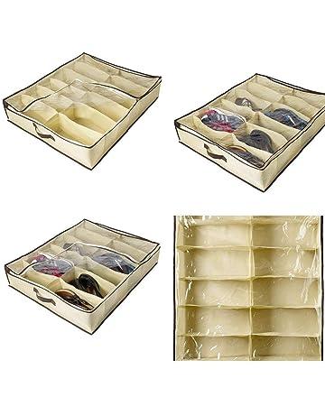 Kuerli Caja de almacenaje 12 grabaciones para Zapatos Plegables para Organizador Plegables de Tela No Tejida