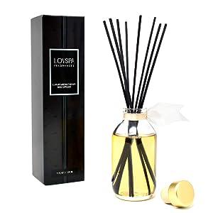 LOVSPA Spice Cake Reed Diffuser Oil Set | Cinnamon, Clove, Nutmeg & Vanilla | Fall Scented Fragrance | Great Kitchen Scent & Home Gift Idea