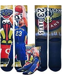 New Orleans Pelicans NBA Center Court Crew Socks Men's Medium - Anthony Davis