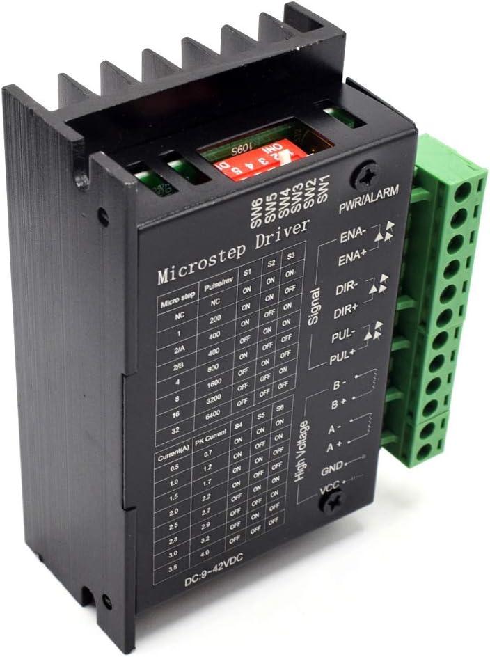 COVVY TB6600 4A DC 9-42V Controlador de Motor Paso a Paso CNC 32 segmentos 2/4 Fase Hybrid Motor Paso a Paso Placa de Conductor: Amazon.es: Electrónica