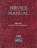 1994 Subaru SVX Repair Shop Manual Original Supplement Front Drive Shaft Boot