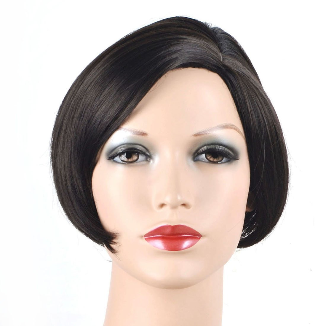 Coolsky Wig OL Short Black Woman Hair For Party or Daily Life Cosplay