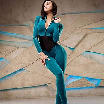 liuhui Conjunto de Yoga de una Pieza Mujeres Sexy Costura ...