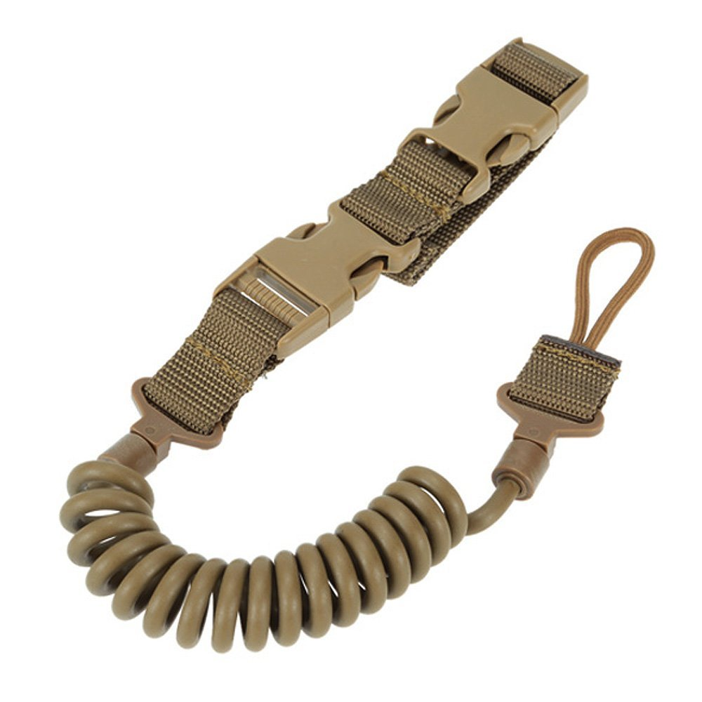 ViriberTactical Two Point Rifle Sling Adjustable Bungee Tactical Airsoft Gun Strap System Paintball Gun Sling for Airsoft Hunting (Khiki)