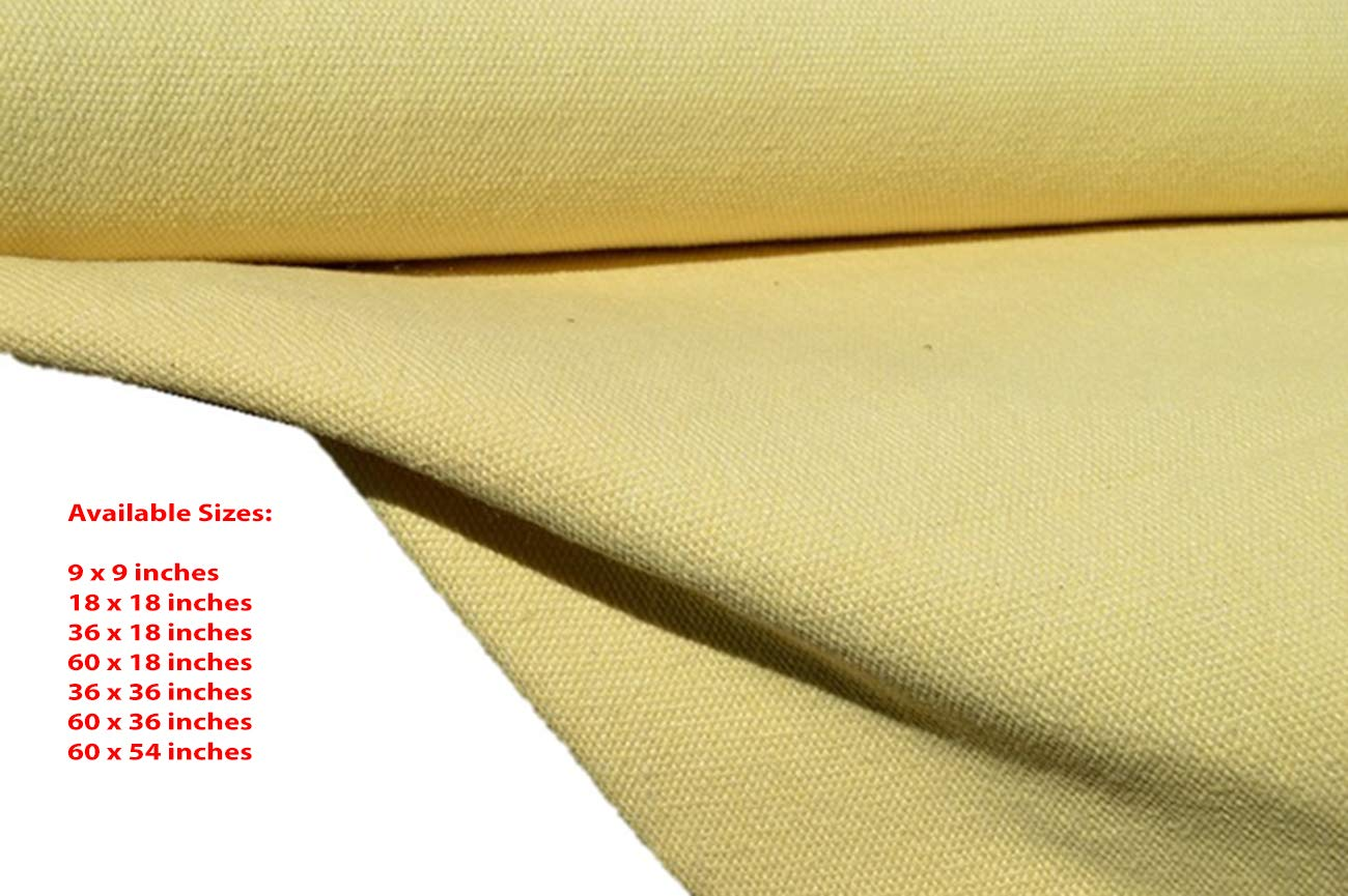 18 inches x 18 inches 22oz Extra Heavy Weight Aramid Protective Kevlar Fabric Choose Size Military Grade Made in USA