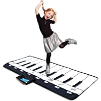 Piano Musical Mat, Educational Pre-Kindergarten Toys,19 Keys Keyboard Floor Mat 43inch x 14inch ( with Volume Control )