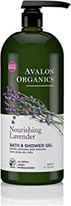 Avalon Organics Nourishing Lavender Bath & Shower Gel, 32 oz.