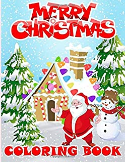 Amazon Com Merry Christmas Coloring Book For Adults And Children