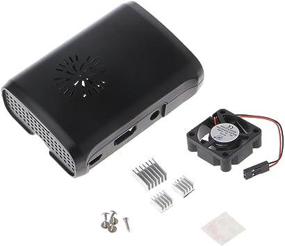 JENOR Pi Box Carcasa ABS con módulo de Ventilador para Raspberry ...