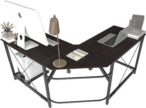 Soges L Shaped Desk Corner Computer Desk Gaming Table Office Workstation Desk
